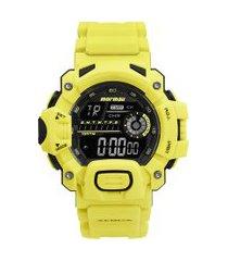 relógio digital mormaii masculino - mo1132aj/8v amarelo neon