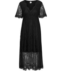 maxiklänning lace dress short sleeve