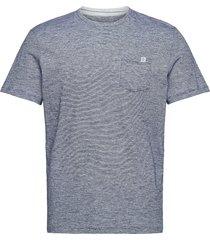 fineliner t- t-shirts short-sleeved grå tom tailor