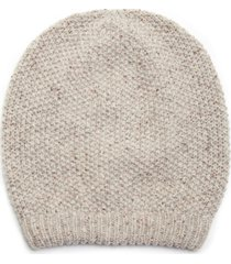 women's slouchy wool beanie hat natural multi one size from sole society