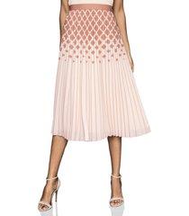 women's reiss elsa diamond print ombre pleat skirt
