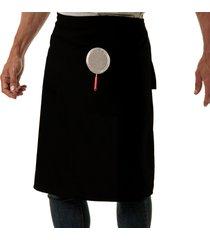 avental oitavo ato de cintura frying pan preto