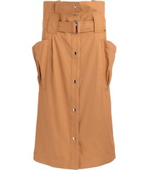mustard high waisted kenzo skirt with big side pockets