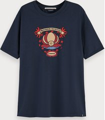 scotch & soda 100% cotton short sleeve t-shirt with printed artwork