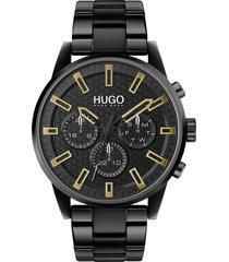 men's hugo seek chronograph bracelet watch, 44mm