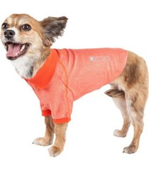 pet life active 'fur-flexed' relax stretch performance dog polo t-shirt