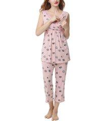 kimi & kai loren maternity nursing pajama set