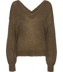 alyssaln oz pullover rws gebreide trui groen lounge nine