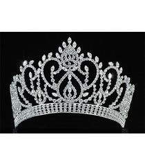 vintage style pageant beauty contest crown full circle round tall tiara