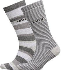 levis regular cut stripe story 2p underwear socks regular socks grå levi´s