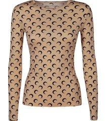 marine serre logo motif print sweater
