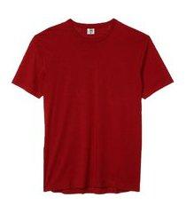 camiseta masculina básica algodão premium modelo exclusivo vinho