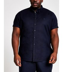 river island mens big & tall navy slim fit oxford shirt