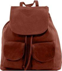 tuscany leather tl141508 seoul - zaino in pelle morbida - misura piccola marrone
