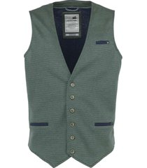 no excess gilet, yarn dyed stripe knitted smoke