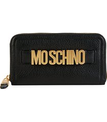 pebbled leather zip-around wallet