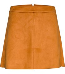 onllinea faux suede bonded skirt cc otw kort kjol orange only