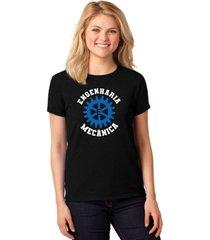 camiseta feminina t-shirt universitária faculdade engenharia mecânica