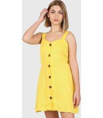 vestido amarillo montjuic capri
