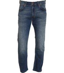 blå wrangler greensboro jeans
