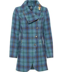cappotto con collo largo (blu) - rainbow