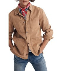 men's madewell canvas chore jacket, size xx-large - brown