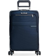 baseline carry-on expandable spinner suitcase - navy