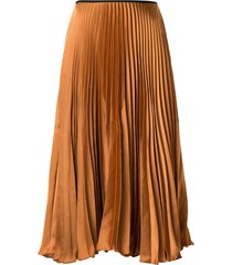 eva lisa satin pleated skirt - neutrals