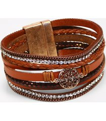 maurices womens brown multi row magnetic bracelet