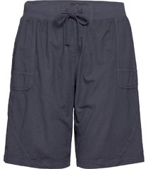 shorts cotton plus pockets shorts flowy shorts/casual shorts blå zizzi