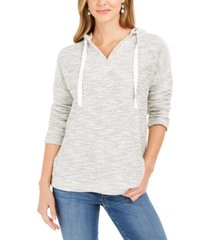 style & co metallic pullover hoodie, created for macy's