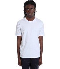 maison margiela t-shirt in white cotton and nylon