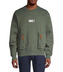 puma men's parquet sweatshirt - green - size s