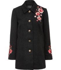 cappotto con ricamo (nero) - bodyflirt