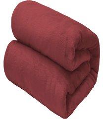 cobertor flannel loft casal 2,2x1,8m - concreto - camesa