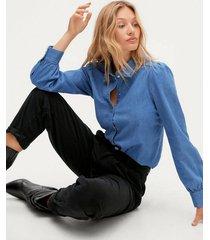 jeansskjorta sltinatin denim shirt ls
