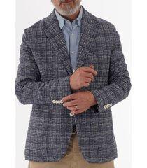 circolo 1901 blue & white checked blazer cn1831