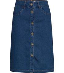 nuayleth skirt knälång kjol blå nümph