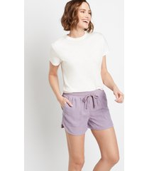 maurices womens lilac weekender 3.5in shorts purple