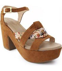 calzado dama tacon 5 1/2 miel 742b05miel
