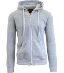 galaxy by harvic men's full zip fleece hooded sweatshirt