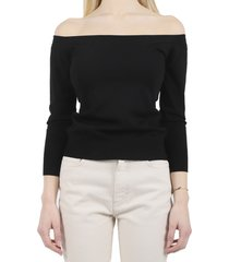 dolce & gabbana black boat neck sweater