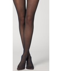 calzedonia 30 denier total shaper sheer tights woman blue size 4