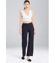 natori jersey essentials silk pants, women's, 100% silk, size s