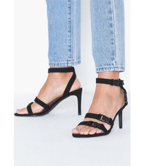 nly shoes multi buckle strap heel high heel