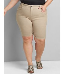 lane bryant women's straight fit slim bermuda short 20 natural
