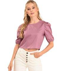 blusa popelin sofi violeta ragged pf12110528