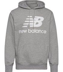 essentials stacked logo po hoodie hoodie trui grijs new balance