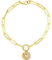 blush wings fob clip bracelet