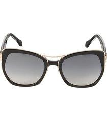 roberto cavalli women's 55mm cat eye sunglasses - black
